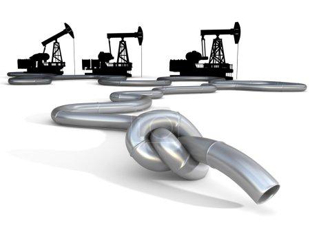Photo pour Crise du pétrole, du gaz, de l'essence ou du carburant. Illustration conceptuelle des affaires et de la politique - image libre de droit