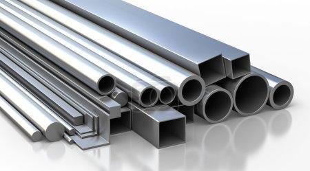 Ensemble de matériaux de construction métalliques