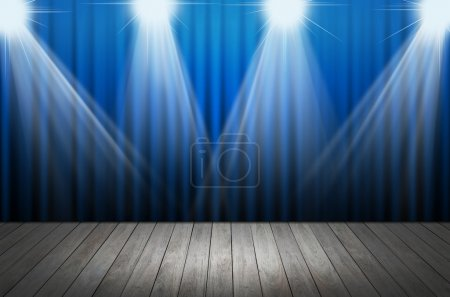 Photo for Blue stage light as background - Royalty Free Image