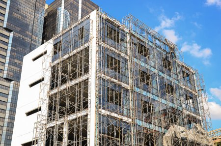 scaffold in construction site