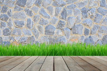 grunge stone wall as background