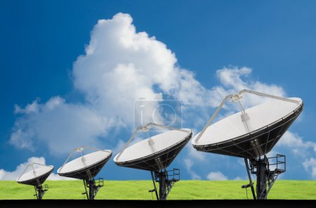 Satellite Dishes Field for telecommunication