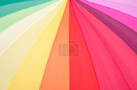 Colorful fabric texture of umbrella for background