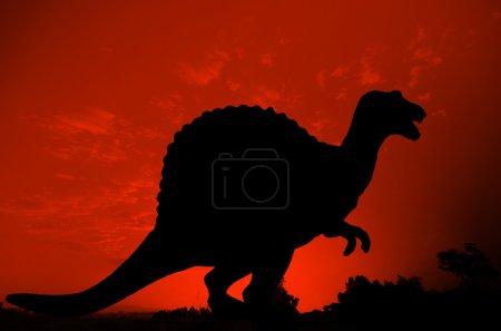Silhouette of Dinosaur