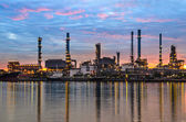 Oil refinery plant at sunrise