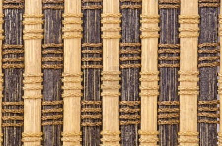 Bamboo curtain pattern material