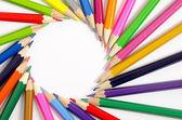 "Постер, картина, фотообои ""Цветные карандаши как фон"""