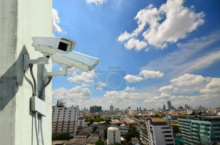 Photo pour Caméra de sécurité surveillance ou cctv - image libre de droit