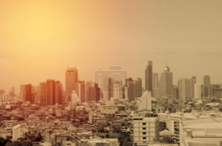 Photo for Abstract blurred cityscape for background - Royalty Free Image