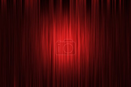 Red Curtain Stage Background with light spots