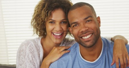 Photo for Happy African American Couple Smiling - Royalty Free Image