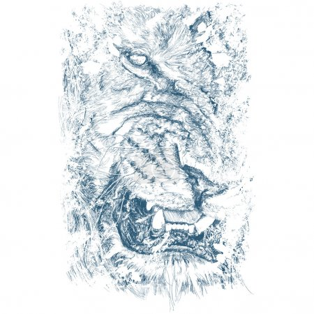 Hidden Lion Illustration
