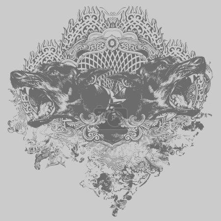Doberman Crest Illustration