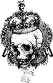 Crowned Skull Vector Illustration