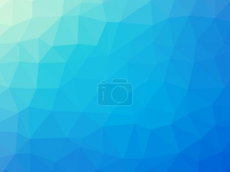 Photo for Blue turquoise gradient polygon shaped background. - Royalty Free Image