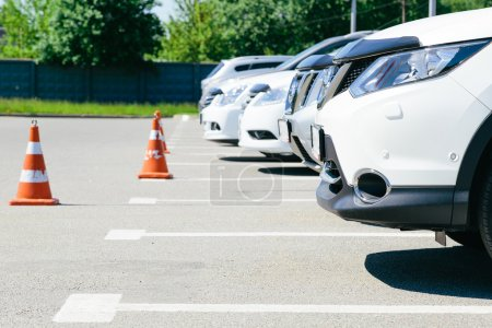 The image of cars on  parking