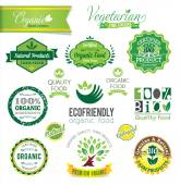 Biological and Natural Farm Fresh vector crests icons and badge