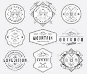 Mountain exploration black on white