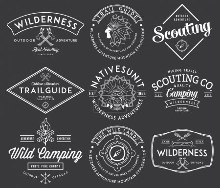 Illustration for Scouting vector badges and labels for any use - Royalty Free Image