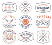 Vector American footballl badges and crests