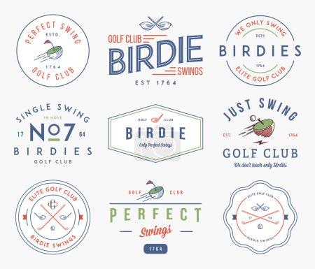 Ilustración de Golf insignias y lables para cualquier uso - Imagen libre de derechos