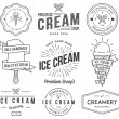 Vector ice cream badges and signs for any use...