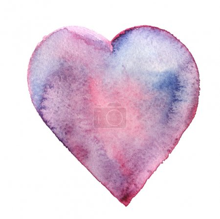 Watercolor hand drawn heart
