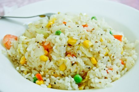 Fried Rice With Shrimp And Mixed Vegetables