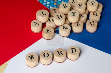 Alphabet wooden stamps to write WORDS....
