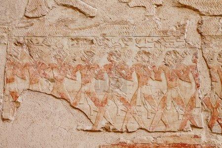Egyptian fresco closeup