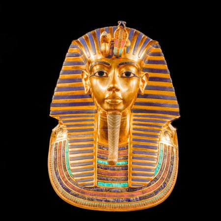 A copy of the mask of Tutankhamun's mummy, as view...