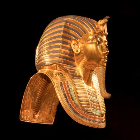 A copy of the mask of Tutankhamun's mummy as viewe...