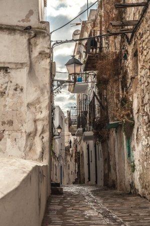 Peble Stone Street in Old Town of Ibiza