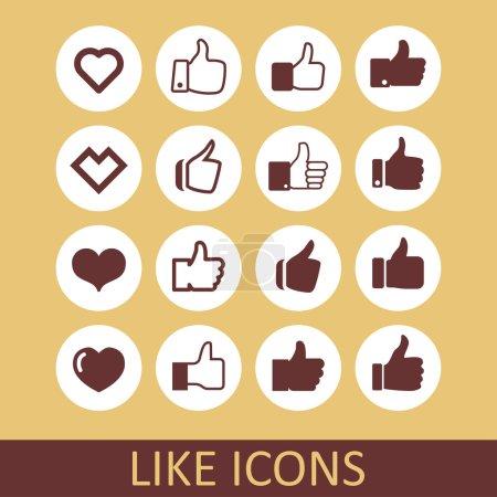 Like icons