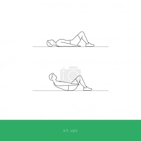 Fitness Icon abdominal sit ups workout.