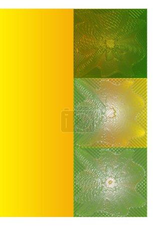 Leuchtende gelb-grüne Linien, ähnlich wie Glimmer, auf gelbem Hintergrund.