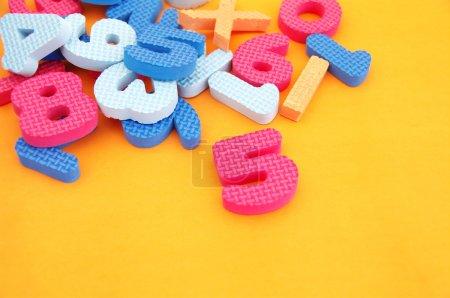 Bright multi-colored figures