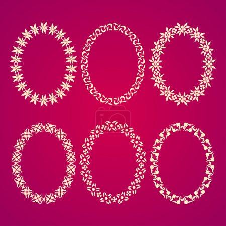 Floral oval frames
