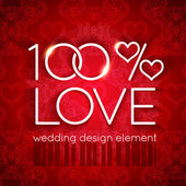 100 percent love wedding design