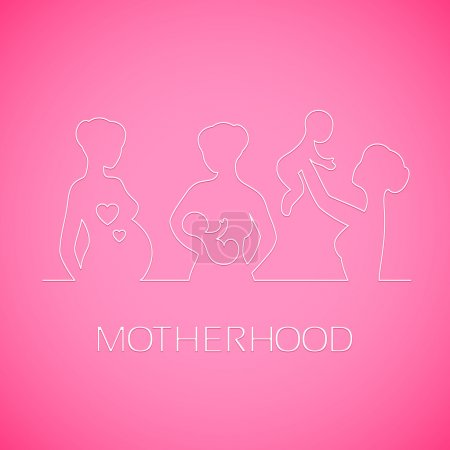 silhouette of the pregnant girl