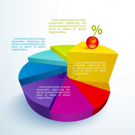 Infographics bright circle segments