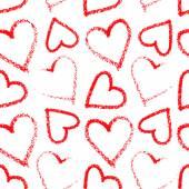 Lipstick heart seamless on white