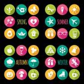 Set of 32 flat icons