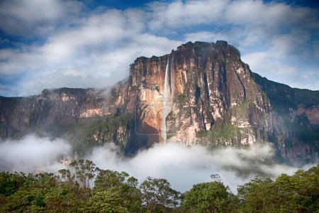 Angel Falls Closeup - highest waterfall in the world