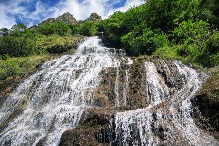 Waterfall bottom-up view
