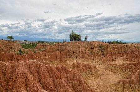 Amazing colorful sands of Tatacoa desert - beauty of nature
