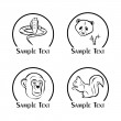 The illustration - set of logos - with different w...