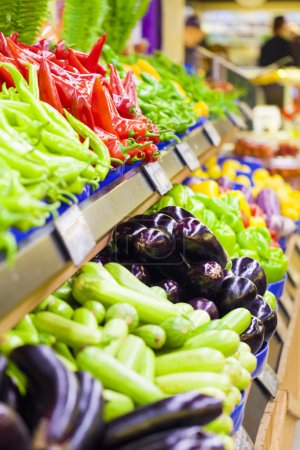 Photo for Lots of vegetables displayed in the supermarket - Royalty Free Image