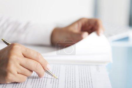 Businesswoman Paperwork