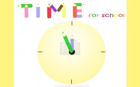 Yellow background for students preparing to school...